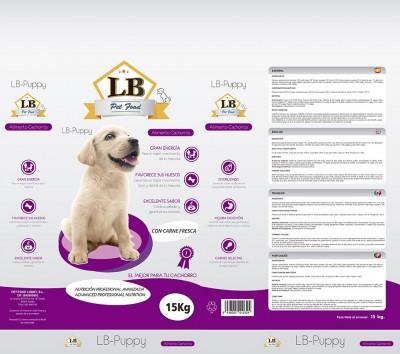 LB puppy sacos BOPP pienso para perros