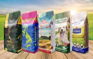 Diseño de nuevos sacos de piensos para animales y más