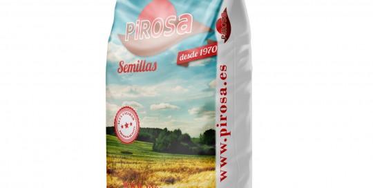 Saco de BOPP con trasera en rafia laminada para Pirosa Alimenteación Animal Certificada